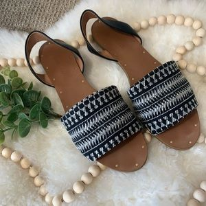Madewell Open Toed Flat Sandals 8.5